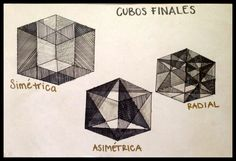 Boceto finales de cubos simétricos, asimétricos y radiales. (se modificarán los cubo simétricos y radial para jueves 21)
