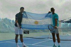 Dos grandes Djokovic y Nadal en la tierra de glaciares..