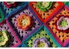 Flower granny square - so pretty!