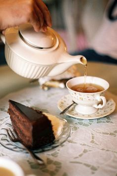 tea and chocolate cake? oh yes, please