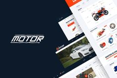 Motor – Vehicles, Parts & Accessories Web Template by Stockware on Envato Elements Web Design Tips, Web Design Trends, Template Site, Templates, Wordpress Template, Magazine Template, Best Web, Magazine Design, Motor Car