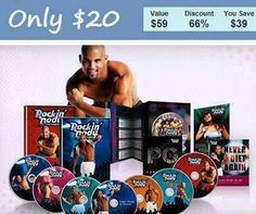 Shaun T Rockin Body $20  #Rockin Body #Team Beachbody #Sexy Abs #6 Pack Abs #Fitness Products #Shaun T