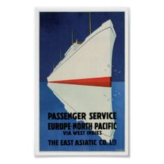 East Asiatic Co. Vintage Passenger Ship Posters