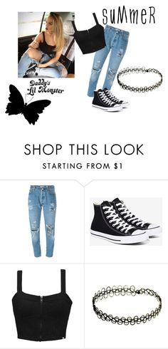 """Lil' Monster"" by julijakuslyte ❤ liked on Polyvore featuring Levi's, Converse and Element"
