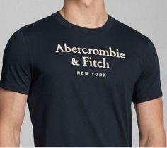 Abercrombie & FITCH Soft Navy BLUE Shirt NeW XXL 2XL 2 Extra Large Short Sleeve. $28.99