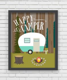 Project Nursery - Lucy Darling Shop Happy Camper Wall Decor