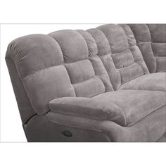 Big Softie 6-Piece Power Reclining Sectional with Chaise and 2 Reclining Seats | Value City Furniture Living Room Seating, Living Room Sofa, Home Living Room, Reclining Sectional With Chaise, Most Comfortable Couch, Fabric Sectional, Value City Furniture, Full Mattress, Power Recliners