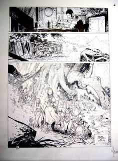 Original art by Vincent Mallié, Régis Loisel in category Strips