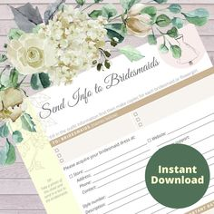 Wedding Attendant Worksheet Bundle | Etsy Wedding Planner Notebook, Wedding Planning Binder, Wedding Planning On A Budget, Plan Your Wedding, Diy Wedding, Wedding Ceremony, Wedding Venues, Wedding Planners, Notebook Binder