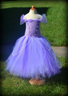 Inspiration -Disney Junior PRINCESS SOFIA Inspired Tutu Dress 6months-5T Halloween Costume