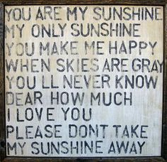 The You Are My Sunshine wooden sign from Sugarboo Designs is a great sample of Rebecca Puig's talent. In the You Are My Sunshine wall art selection, she takes a popular tune and turns it into a decora
