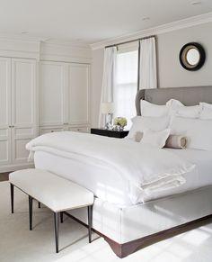 Master Bedroom. Beautiful white built in closets. Plum Furniture