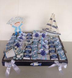Baby boy arrangement with nautical theme