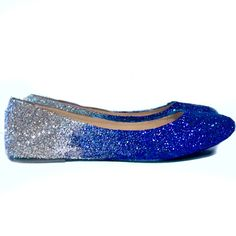 988d145cd7d1 Sparkly Navy Blue Glitter Ballet Flats shoes wedding bride Womens Satin Tie  up Bow | He put a ring on it!! | Navy blue wedding shoes, Navy wedding shoes,  ...