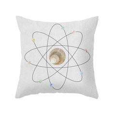 This atomically themed Subatomic Pillow is sure to animate your favorite sofa or statement chair. Featuring delicate, textured detailing and a chicly simplistic atom design, the pillow is sure to make ...  Find the Subatomic Pillow, as seen in the #Elemental Style Collection at http://dotandbo.com/collections/elemental-style?utm_source=pinterest&utm_medium=organic&db_sku=107155