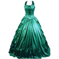 Partiss Women Halter Ruffles Gothic Victorian Lolita Dress ($90) ❤ liked on Polyvore featuring dresses, frill dress, gothic victorian dress, ruffle cocktail dress, halterneck dress and flounce halter top