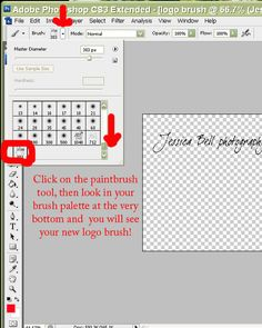 How to make a watermark/logo brush in photoshop