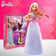 Barbie Original Violin-Refresh Brand Barbie Toy New Dolls For Girl Educational Toys kids toys Birthday Gift For Children Educational Toys For Kids, Kids Toys, Barbie Family, Barbie Toys, Beautiful Barbie Dolls, Barbie Dream House, Disney Dolls, New Dolls, Lessons For Kids
