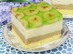 Tradycyjna kuchnia Kasi: Bananowiec Jello, Flan, Vanilla Cake, Mousse, Sweet Tooth, Cheesecake, Sweets, Fruit, Cooking