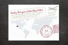 A Faraway Destination Wedding Invitations by bumble ink at minted.com 95 invites = $227 95 RSVP = $142