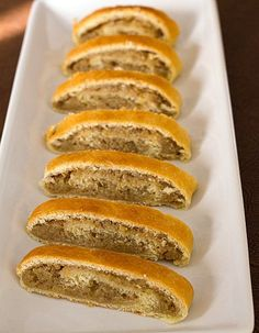 Beligi (Nut Rolls) for Christmas - AMAZING!! This is THE recipe I'll be using from now on! Be careful not to roll dough too thin - keep smaller because of the rise after assembling.