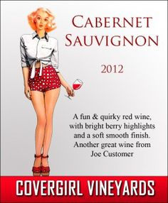 Covergirl custom personalized wine and beer label from Noontime Labels.