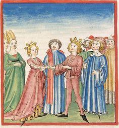 Pontus und Sidonia — Stuttgart (?) - Werkstatt Ludwig Henfflin,  um 1475  Cod. Pal. germ. 142  Folio 76v