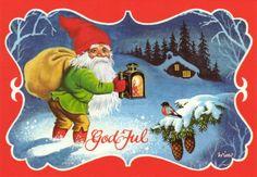 Wimo Father Christmas, Christmas Elf, Christmas Cards, Norwegian Christmas, Danish Christmas, Vintage Ephemera, Vintage Cards, Picasa Web Albums, Pictures To Paint