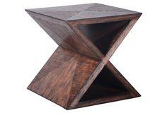 Quatrain X Buncher Table, Medium Brown