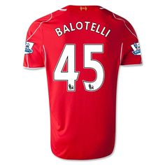 Youth 2014/15 Liverpool Mario Balotelli 45 Home Soccer Jersey