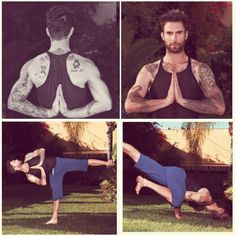 Adam Levine. Liked him before but now that I know he does yoga I think i'm in love <3 #AdamLevine #yoga