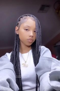 Braids Hairstyles Pictures, Black Girl Braids, Braided Hairstyles For Black Women, African Braids Hairstyles, Baddie Hairstyles, Braids For Black Hair, Girls Braids, Girl Hairstyles, Curly Hair Styles
