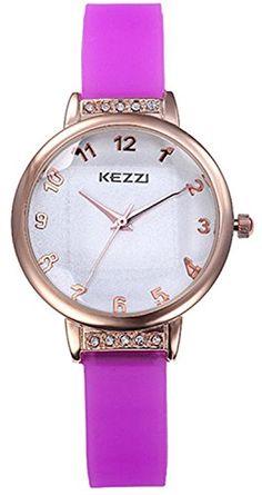 Kezzi Women's Wrist Watches K822 Silicone Analog Quartz Dress Fashion Watch Waterproof Purple Kezzi http://www.amazon.com/dp/B00OQAX00C/ref=cm_sw_r_pi_dp_osZkvb07H9RFK