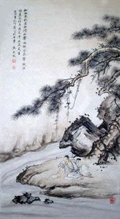 Page 3 Buy Chinese landscape paintings from China & World's Largest Online Chinese Painting Gallery. Asian oriental landscape paintings for sale. Sumi E Painting, Japan Painting, Plant Painting, Chinese Landscape Painting, Chinese Painting, Nature Paintings, Landscape Paintings, Drawing Scenery, Japanese Drawings