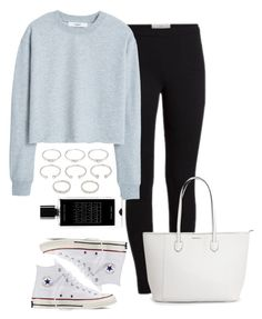 """""""Running Errands"""" by jasmineee338 ❤ liked on Polyvore featuring MANGO, Converse, Forever 21 and Agonist"""