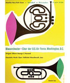 Amerikahaus Essen (Blasorchester) poster c1954