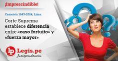 Casación 1693-2014, Lima: Diferencia entre «caso fortuito» y «fuerza mayor»
