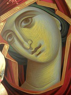 Iconar Eleni Dadi – icoana Byzantine Icons, Byzantine Art, Religious Icons, Religious Art, Greek Icons, John Chrysostom, Catholic Art, Art Icon, Holy Family