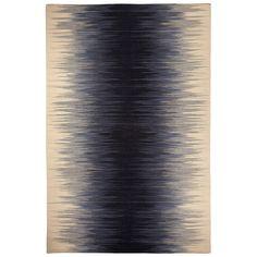 Capel Rugs Beam Navy Wool Rug @Zinc_Door  For the living room?