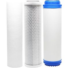 Replacement Filter Kit Compatible with Krystal Pure KR15 RO System Includes Carbon Block Filters /& Polypropylene Sediment Filter