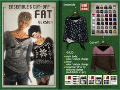 SEY https://marketplace.secondlife.com/p/SEY-Ensemble-Cut-off-multi-texturing-Mesh-unisex-FAT-version/4078320