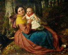 The Artist's Son and Nurse, 1863.  Frederick Richard Pickersgill