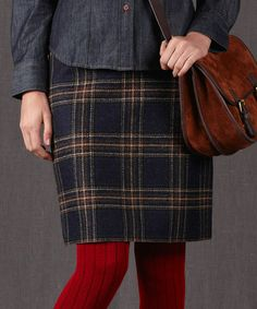 Take a look at this British Tweed Wool Miniskirt on zulily today!