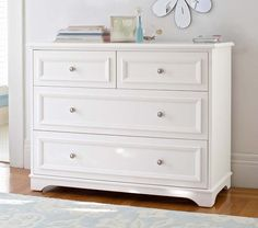 I'd replace the knobs with something more interesting // Fillmore Dresser | Pottery Barn Kids