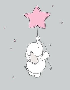 Custom Listing for Jamie Baby Elephant Star by SweetMelodyDesigns