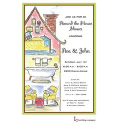 Prints charming paper couples showers yellow umbrella shower around the house bridal shower invitations filmwisefo