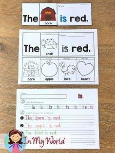 Sight Words and Word Families Week 3 - In My World Reading Skills, Teaching Reading, Reading Comprehension, Kindergarten Learning, Free Reading, Word Family Activities, Reading Activities, Reading Resources, Preschool Activities