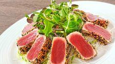 Filetto di tonno in crosta di sesamo, ricetta giapponese, cucina giapponese