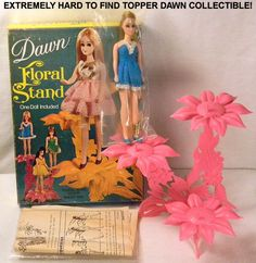 NEW Vintage REPRODUCTION DAWN DOLL STAND MOD LIME GREEN COLOR