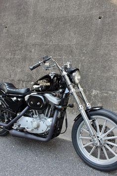 American Motorcycles, Cool Motorcycles, Sportster Chopper, Bobber Style, Harley Davison, My Ride, Wheels, Bike, Vehicles